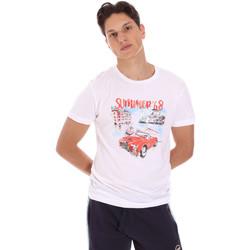Oblečenie Muži Tričká s krátkym rukávom Key Up 2S427 0001 Biely