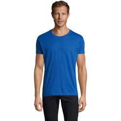 Oblečenie Muži Tričká s krátkym rukávom Sols REGENT FIT CAMISETA MANGA CORTA Azul