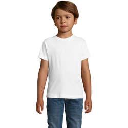 Oblečenie Chlapci Tričká s krátkym rukávom Sols REGENT FIT CAMISETA MANGA CORTA Blanco