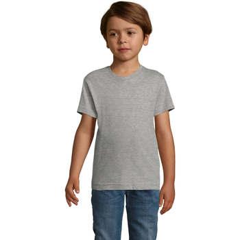 Oblečenie Chlapci Tričká s krátkym rukávom Sols REGENT FIT CAMISETA MANGA CORTA Gris