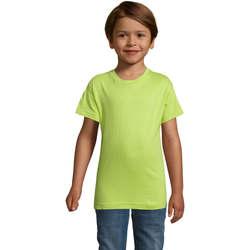 Oblečenie Chlapci Tričká s krátkym rukávom Sols REGENT FIT CAMISETA MANGA CORTA Verde