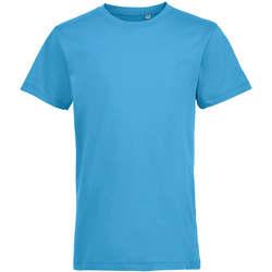 Oblečenie Deti Tričká s krátkym rukávom Sols REGENT FIT CAMISETA MANGA CORTA Azul