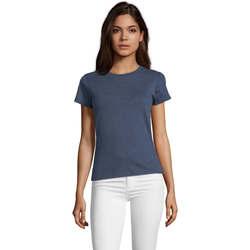 Oblečenie Ženy Tričká s krátkym rukávom Sols REGENT FIT CAMISETA MANGA CORTA Azul