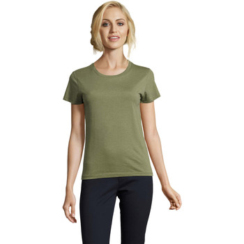 Oblečenie Ženy Tričká s krátkym rukávom Sols REGENT FIT CAMISETA MANGA CORTA Kaki