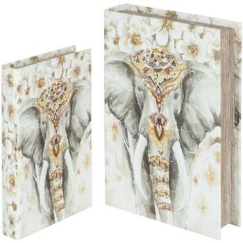 Domov Košíky, škatule Signes Grimalt Slon Book 2U Boxy V Septembri Multicolor