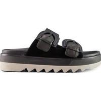 Topánky Ženy Šľapky Cougar Pepa Suede Leather čierna