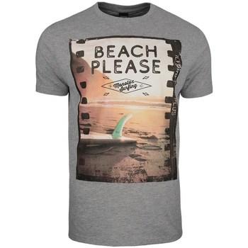 Oblečenie Muži Tričká s krátkym rukávom Monotox Beach Sivá