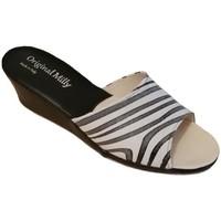 Topánky Ženy Šľapky Milly MILLY103zebra bianco