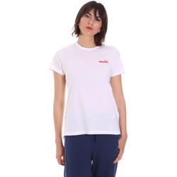 Oblečenie Ženy Tričká s krátkym rukávom Diadora 102175882 Biely