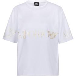 Oblečenie Ženy Tričká s krátkym rukávom Ea7 Emporio Armani 3KTT18 TJ29Z Biely