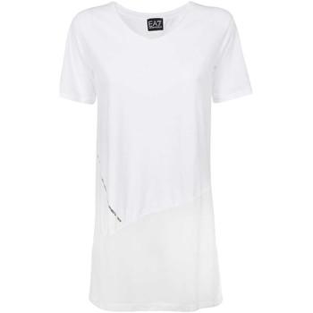 Oblečenie Ženy Tričká s krátkym rukávom Ea7 Emporio Armani 3KTT36 TJ4PZ Biely