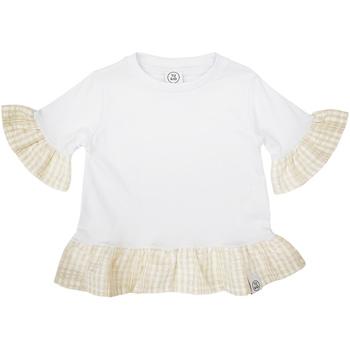 Oblečenie Dievčatá Tričká s krátkym rukávom Naturino 6001011 01 Biely
