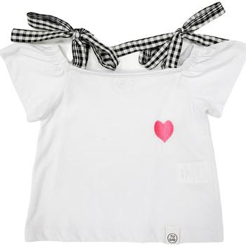 Oblečenie Dievčatá Tričká s krátkym rukávom Naturino 6001013 01 Biely