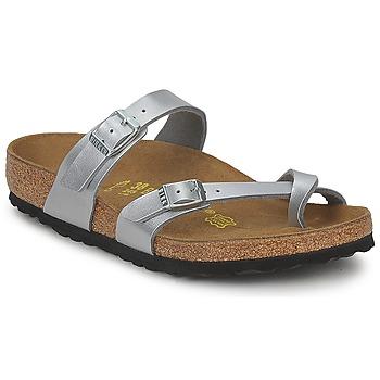 Topánky Ženy Šľapky Birkenstock MAYARI Strieborná