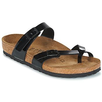Topánky Ženy Šľapky Birkenstock MAYARI čierna / Patent
