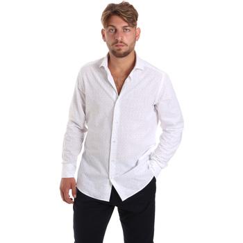Oblečenie Muži Košele s dlhým rukávom Les Copains 20P500 P3196SL Biely