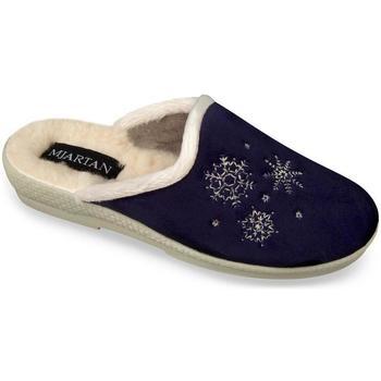 Topánky Ženy Papuče Mjartan Dámske tmavomodré papuče  LISA hnedá