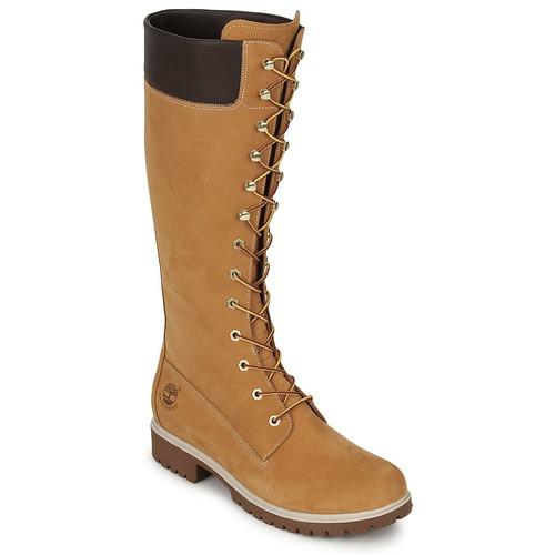 Topánky Ženy Čižmy do mesta Timberland WOMEN'S PREMIUM 14IN WP BOOT Koňaková
