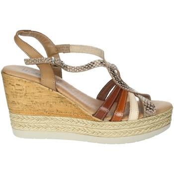 Topánky Ženy Sandále Novaflex BARZIO Brown leather