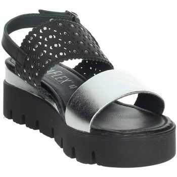 Topánky Ženy Sandále Novaflex AGOSTA Black/Silver
