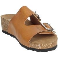 Topánky Ženy Šľapky Novaflex AFRICO Brown leather