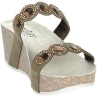 Topánky Ženy Šľapky Novaflex AGNONE Brown Taupe
