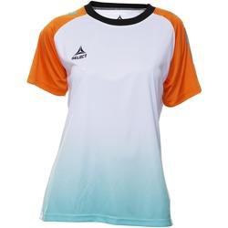 Oblečenie Ženy Tričká s krátkym rukávom Select T-shirt femme  Player Femina orange/blanc/vert