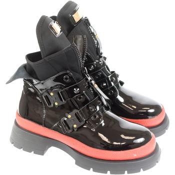 Topánky Ženy Čižmičky Bella Paris Dámske čierno-červené čižmy KARLA PARIS čierna