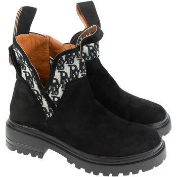 Topánky Ženy Čižmičky Bella Paris Dámske čierne čižmy KARL PARIS čierna