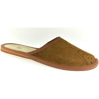 Topánky Muži Papuče John-C Pánske kožené hnedé papuče MILAN ťavia