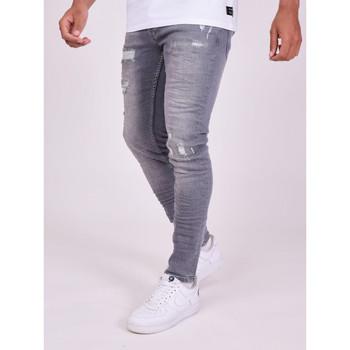 Oblečenie Muži Nohavice Project X Paris Pantalon Jeans Slim effet usé gris foncé