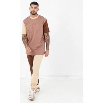 Oblečenie Muži Tričká s krátkym rukávom Sixth June T-shirt  Tricolor Regular beige