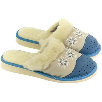 Topánky Ženy Papuče John-C Dámske modré papuče NATAŠA modrá