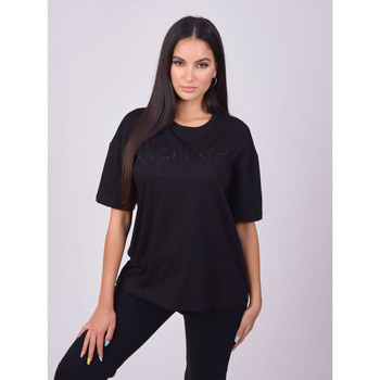 Oblečenie Ženy Tričká s krátkym rukávom Project X Paris T-shirt femme basic noir