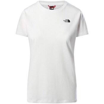 Oblečenie Ženy Tričká s krátkym rukávom The North Face W Simple Dome Tee Biela