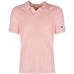 Oblečenie Muži Polokošele s krátkym rukávom Champion  Ružová
