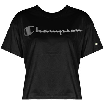 Oblečenie Ženy Tričká s krátkym rukávom Champion  Čierna
