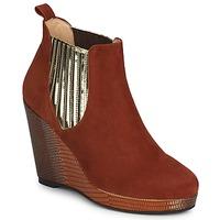 Topánky Ženy Nízke čižmy MySuelly LEON Červená hrdzavá / Zlatá