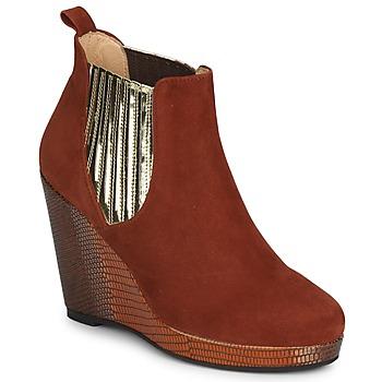 Topánky Ženy Čižmičky MySuelly LEON červená hrdzavá / Zlatá