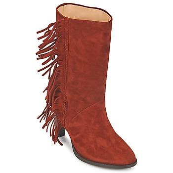 Topánky Ženy Čižmy do mesta MySuelly GAD Červená hrdzavá