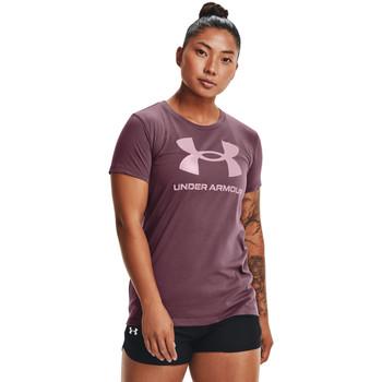 Oblečenie Ženy Polokošele s krátkym rukávom Under Armour Sportstyle Graphic Fialová