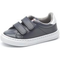 Topánky Dievčatá Nízke tenisky Cienta Chaussures fille  Deportivo Scractch Piel bleu marine