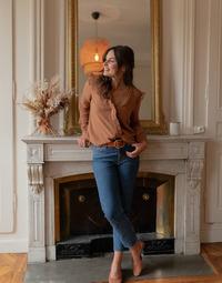 Oblečenie Ženy Blúzky Céleste ZEPHYR Ťavia hnedá