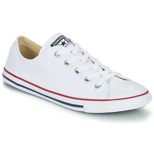 Topánky Ženy Nízke tenisky Converse ALL STAR DAINTY OX Biela / Červená