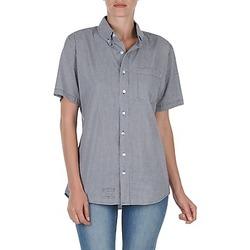 Oblečenie Ženy Košele s krátkym rukávom American Apparel RSACP401S Biela / Modrá