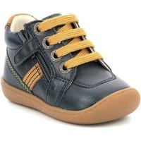 Topánky Dievčatá Polokozačky Aster Chaussures fille  Piasap bleu marine/orange clair