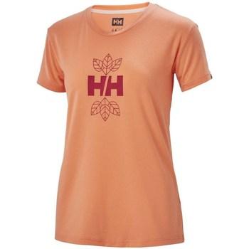 Oblečenie Ženy Tričká s krátkym rukávom Helly Hansen Skog Graphic Oranžová