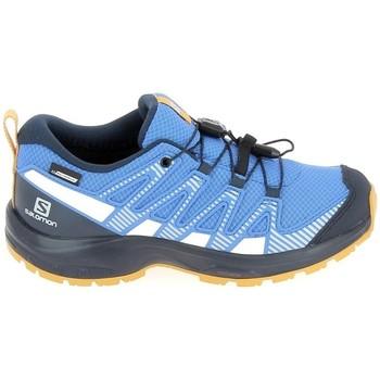 Topánky Deti Bežecká a trailová obuv Salomon Xa Pro V8 Jr CSWP Bleu Modrá