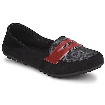 Topánky Dievčatá Mokasíny Mod'8 CELEMOC JUNIOR Čierna / Leopard / Červená