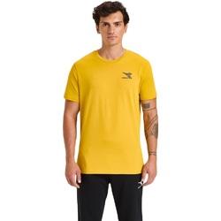 Oblečenie Muži Tričká s krátkym rukávom Diadora Ss Chromia žltá